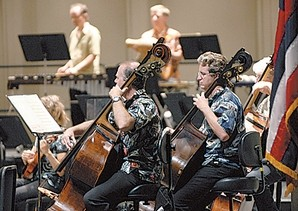 Musicians with the Honolulu Symphony played a special performance of